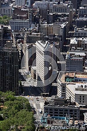 New York City Flatiron Building in Manhattan Editorial Stock Image