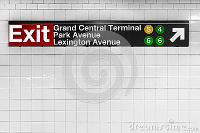 New York City Grand Central Sign