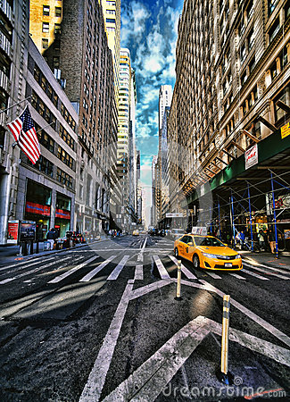 New York City in HDR. Editorial Photo