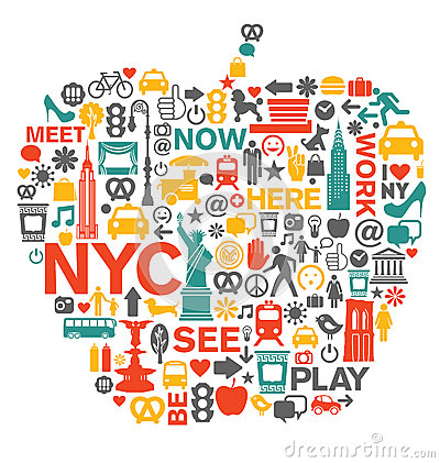 Free New York City Icons And Symbols Stock Photo - 41358670