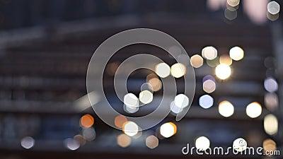New York City - la ciudad hermosa de la visión aérea empañó el horizonte de la vista nocturna de las luces, extracto sobre Manhat almacen de video