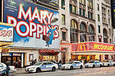 New York City landmark - 42nd street Editorial Stock Photo