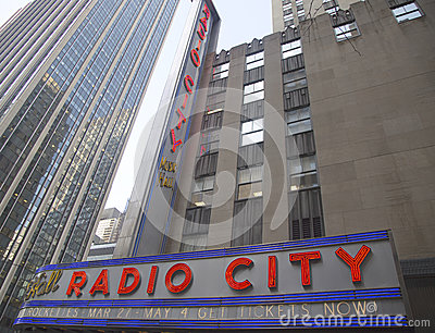 New York City landmark, Radio City Music Hall in Rockefeller Center Editorial Photography