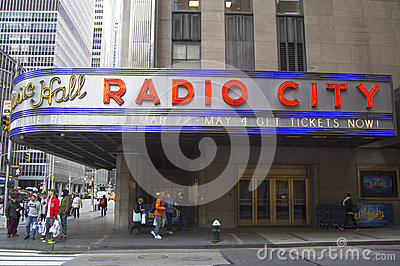 New York City landmark, Radio City Music Hall in Rockefeller Center Editorial Stock Image
