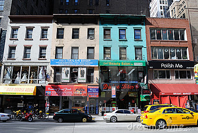 New York City Local Businesses Editorial Stock Image
