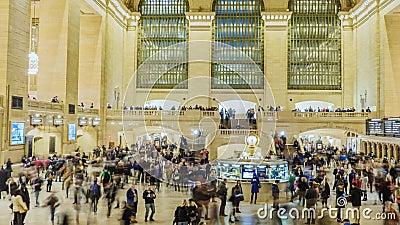 New York City, los E.E.U.U. - OKTOBER 26, 2016: Timelapse de la cacerola del movimiento: Estación de Grand Central en lapso de ti metrajes