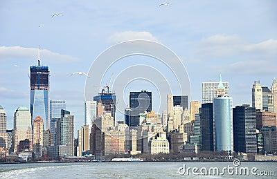 New York City Lower Manhattan view, New York