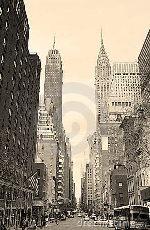 New York City Manhattan black and white Editorial Photography