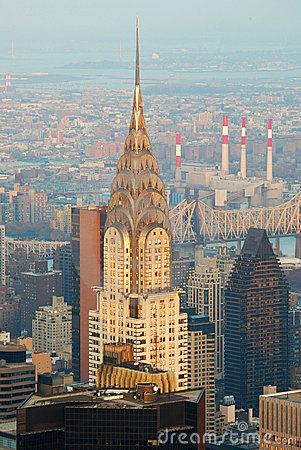 New York City Manhattan Chrysler Building Editorial Stock Image
