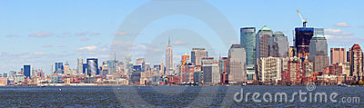 New York City Manhattan downtown skyline panorama