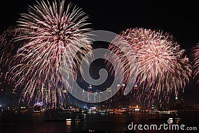 New York City Manhattan fireworks show