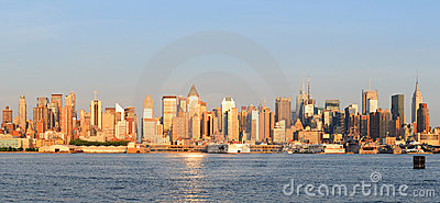 New York City Manhattan midtown skyline panorama