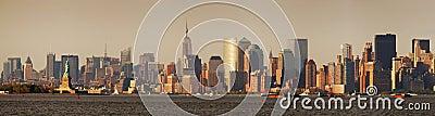 New York City Manhattan with Statue of Liberty
