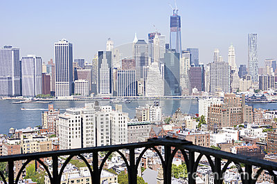 New york city manhattan stock image image 30498991 for New york balcony view