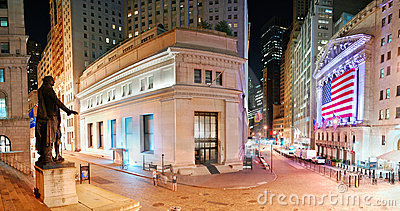 New York City Manhattan Wall Street panorama Editorial Image