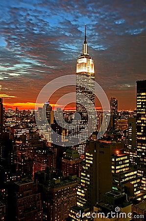 New York City midtown skyline Editorial Photography
