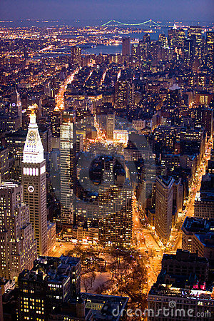 New York City at night Editorial Image