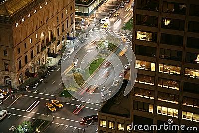 New York City night scene
