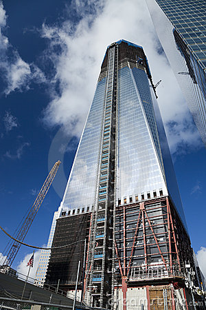 NEW YORK CITY - OCTOBER 3:One World Trade Center Editorial Stock Image