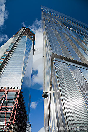 NEW YORK CITY - OCTOBER 3: One World Trade Center Editorial Stock Image