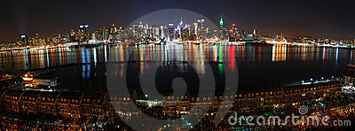 New York City panorama over Hudson River