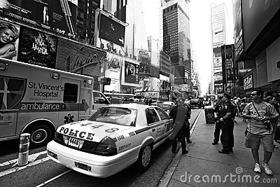 New York City police officers on a street Editorial Photography