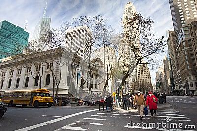 New York City Public Library Editorial Stock Photo