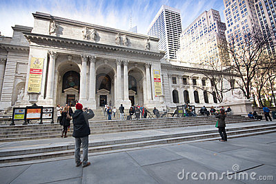 New York City Public Library Editorial Stock Photo