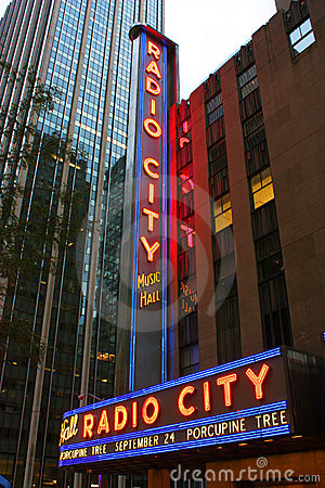 New York City Radio City Music Hall Editorial Image