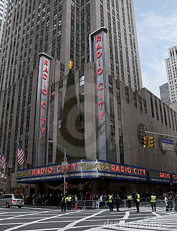 New york city radio city music hall Editorial Stock Image