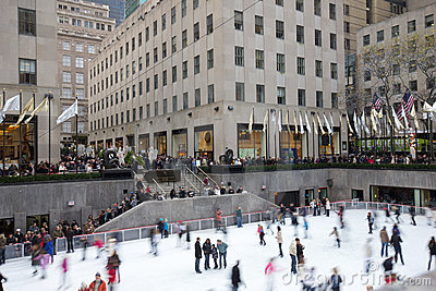 New York City Rockefeller Center Christmas Editorial Photo
