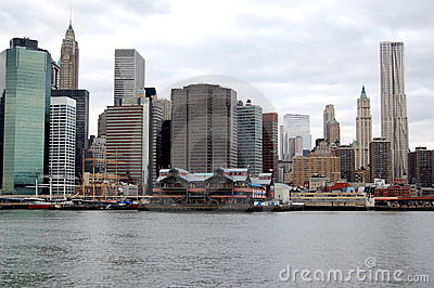 New York City s South Street Seaport Editorial Stock Photo