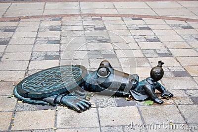 New York City Sewer Alligator Editorial Stock Image