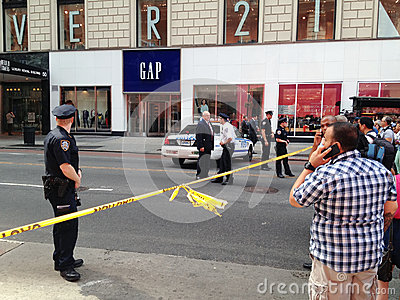 New York City shooting at 34th street Editorial Stock Photo