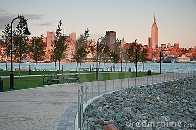 New York City Skyline at Dusk from Hoboken, NJ