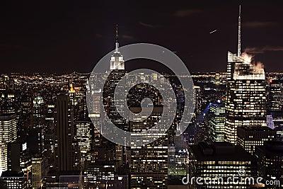 New York City Skyline Empire State Building Night