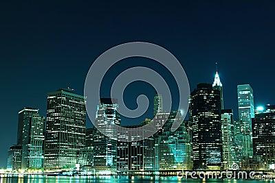 New York City skyline at Night Lights