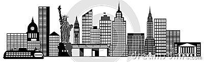 Clip Art New York Clip Art new york city skyline panorama clip art royalty free stock image black and white silhouette illustration