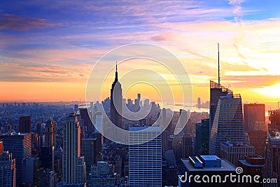 New York City skyline twilight