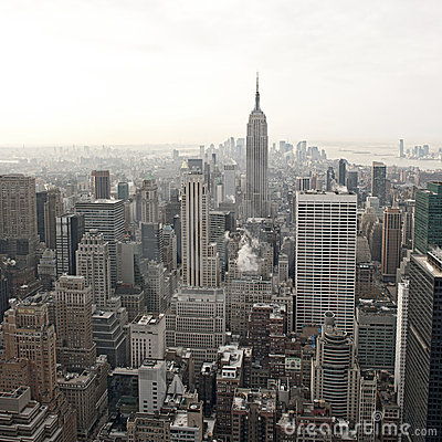 Free New York City Skyline View From Rockefeller Royalty Free Stock Photography - 20252737