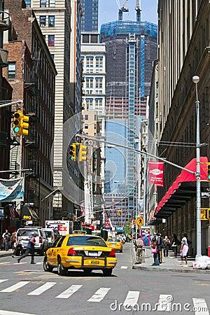 City streets background new york city street