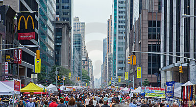 New York City street fair scene. Editorial Stock Photo