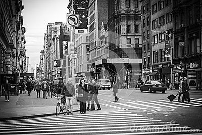 New York City Street View - Flatiron District Editorial Photography