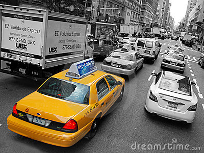 The New York City Taxi Editorial Photography