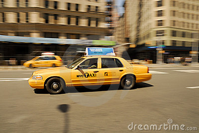 New York City Taxi Editorial Stock Photo