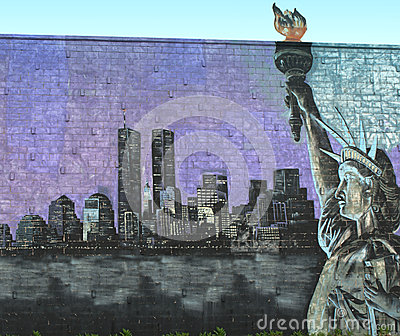 New york city tribute mural Editorial Photography