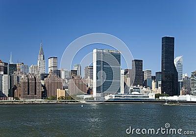 The New York City Uptown skyline