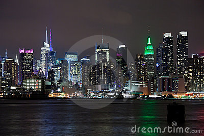 The New York City Uptown skyline