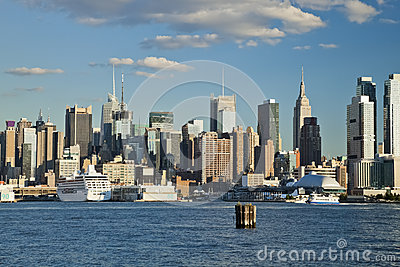 The New York City Uptown skyline at the afternoon