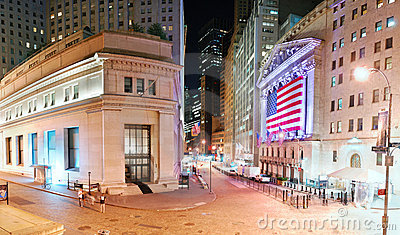 New York City Wall Street Editorial Stock Photo